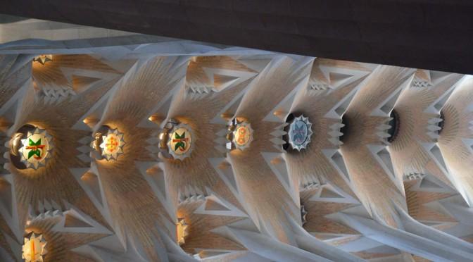 Sostre de la nau central de la Sagrada Familia